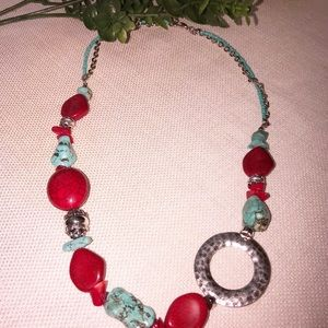 Jewelry - Faux Turquoise & Silver Necklace